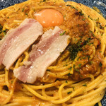 五右衛門 - イベリコ豚のチリカルボナーラ トマトソース