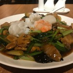 中国薬膳料理 星福 - イカの白さが際立っています