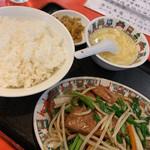 中華街 - レバニラ炒め定食700円