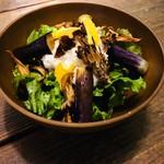 秋野菜と長芋のサラダ