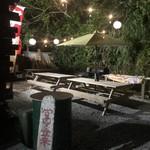 琉球ムーガタ鍋 - 夜のテラス席