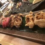 かしわ屋 -  ホルモンの肉寿司