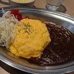 Caffice - [料理] 金沢オムカレー プレート 全景♪W