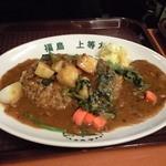 福島上等カレー - 健康野菜カレー じゃがいも 人参 ほうれん草等が入ってます ほうれん草が特に美味しかったです
