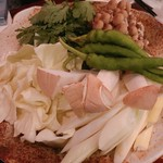 チアカウンター - 牛すき焼き
