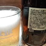 珉珉 - 2019年9月撮影。瓶ビールは仲瓶です。
