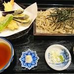 一花 - 料理写真:天ざる蕎麦1200円