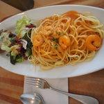 ミストラル - 料理写真:エビのトマトクリームバゲットセット