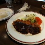 レストラン アサヒ - 薩摩茶美豚のロースカツセット(1,300円)