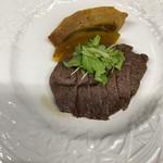 ピアブランカ - 黒毛和牛ステーキ・カボチャのソテー添え