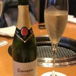 焼肉 山水 - 食前酒コドーニュ・クラシコ・セコ