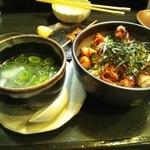 11478109 - 鶏丼と鶏スープ 美味い