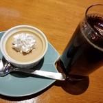 えんの蔵 - アイスコーヒーとプリン