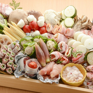 呑める天ぷら屋!!お好きなネタを1本ずつから選べます。