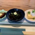 和食や 福ろう - 料理写真:前菜3点が先に