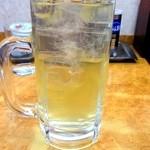 餃子の王将 - 緑茶割り\180(安いね♪)