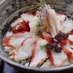 Ginzakanimitsu - タラバ蟹漬け丼