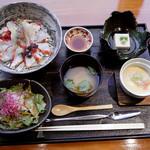 Ginzakanimitsu - タラバ蟹漬け丼御膳