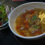 夢屋 - 本日のスープとサラダ