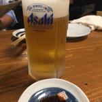 ぴんぽん - 生ビールの銘柄はアサヒでした