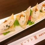 114801724 - ピータン豆腐 カリカリ揚げワンタンのせ 600円