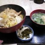 うちの食事の店 - カツ丼(¥430)+みそ汁(¥70)