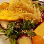 Mirai - 京野菜の入った野菜サラダーおやさいで作ったドレッシングー