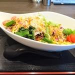 ラーメンまっくうしゃ - オマール海老の塩あえ麺(並盛)