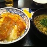博多そば処 うえ村 - かつ丼&狸そばセット 750円♪