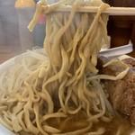 男気らーめんアカギ - 【2019.8.23】加水低めのワシワシ中太麺。