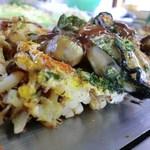 お好み焼き ひろかわ  - お好み肉玉うどん+牡蠣