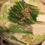 114864357 - 博多名物 もつ鍋 (*´ω`*) 味噌味