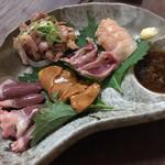 地どり焼 藤田屋 - 料理写真:刺し盛り(^^)