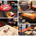 オーサム ストア&カフェ - 席のタイプは色々。 テーブルや椅子が可愛い♪