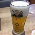 かっぱ寿司 - 生ビール大。半額クーポンのおかげで4杯も飲んじゃった