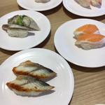 かっぱ寿司 - うなぎ・サーモン・イワシ・ハマチ・つぶ貝
