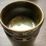 博多せいろ屋 樹々杏 - 博多水炊きスープ・・水炊きスープはあまり好まないのですけれど、これは鶏特有の癖のある味わいではなく 少し甘味も感じ好みのテイスト。