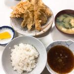 天ぷら定食ふじしま - えび天付き天ぷら定食 ご飯小