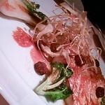 サロン ド ジヴェルニー - 魚のポアレ(ごぼうがピューレ・揚げ・焼き3種で美味)