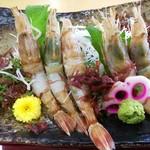 鳥取砂丘にいちばん近いドライブインレストラン砂丘会館 - モサエビ刺身