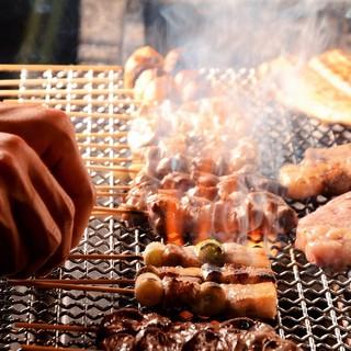 ●炭で焼く!焼き鳥・ステーキ・季節の鮮魚♪