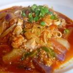 アガノ - チキンと白菜と紫大根のピリ辛トマトソース