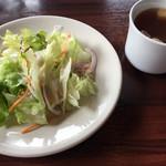 フレンチーナ - ランチセットのサラダとスープ
