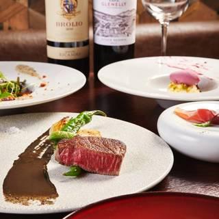 【フレンチ×鉄板焼】ステーキ2種のコース