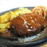 114947209 - ジャンボハンバーグステーキ定食 + ライス大盛り 50円 = 1,930円(税別)。     2019.09.03