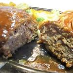 114947213 - ジャンボハンバーグステーキ定食 + ライス大盛り 50円 = 1,930円(税別)。     2019.09.03