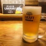 めしや 太治兵衛 - 生ビール(450円)
