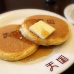 珈琲 天国 - ホットケーキ(550円)ちっちゃくてかわいい。