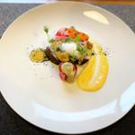 114974784 - 彩り野菜のテリーヌ、フェンネルのサラダ