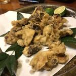 亀は萬年 - 松茸の天ぷら… 何か勿体無いような笑